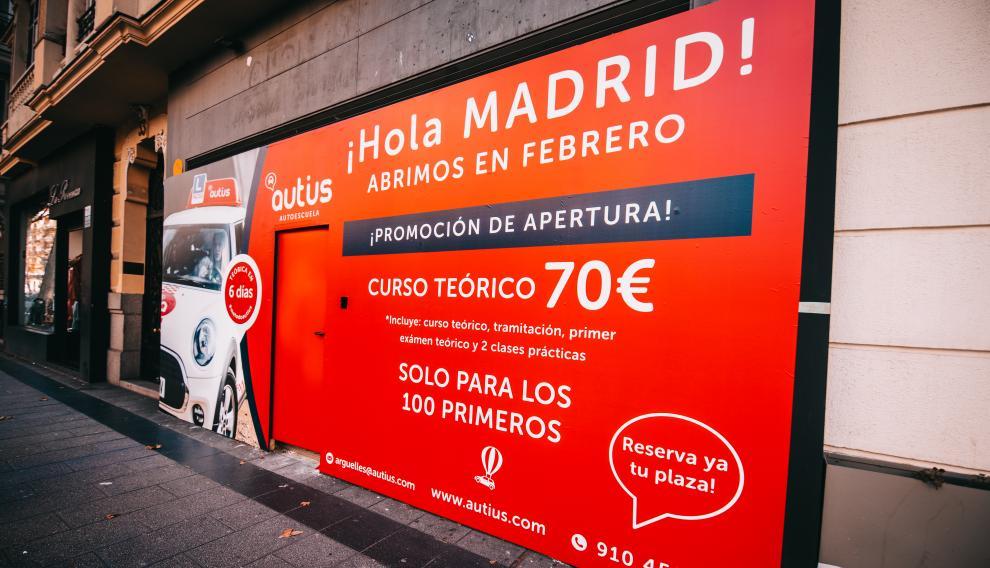 Autoescuela autis abre su primer centro en Madrid después de abrir otros cinco en Zargoza y Huesca desde 2017.