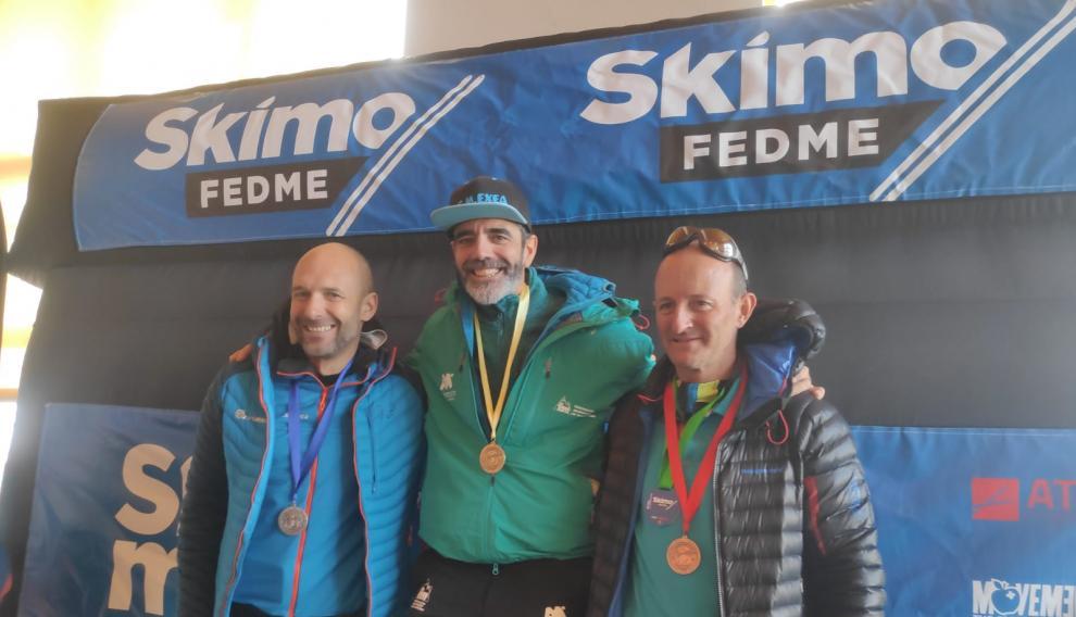 Luis Royo recibe el Oro Veteranos C en la Copa de España de Esquí de Montaña 2020