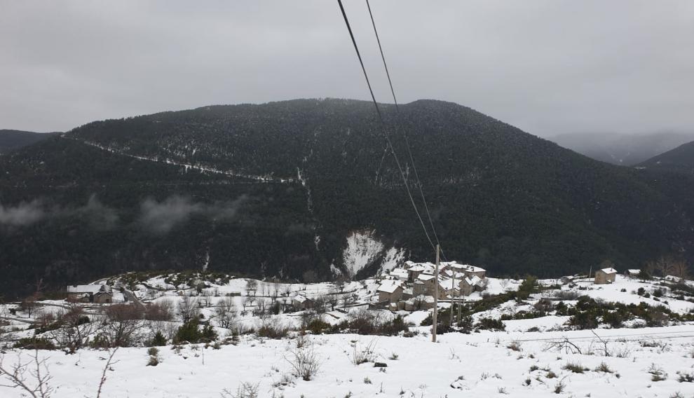 Nieve en Nerín.