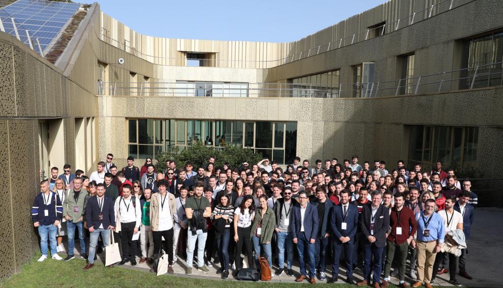 Foto de familia de los jóvenes talentos elegidos por el Basque Culinary Center.