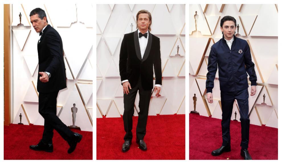 Antonio Banderas, Brad Pitt y Timothée Chalamet.