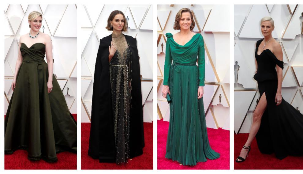 Greta Werwig, Natalie Portman, Sigourney Weaver y Charlize Theron.