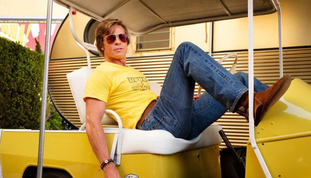 Brad Pitt como Cliff Booth en 'Érase una vez en Hollywood'.