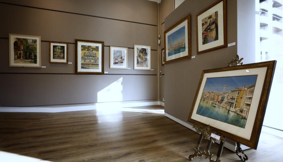 Varias de las obras que componen la exposición de González Bueno.