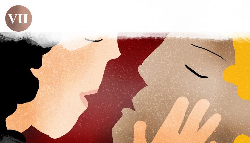 Beso de Isabel de Segura al fallecido Diego de Marcilla, los Amantes de Teruel
