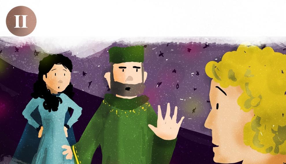 Dibujo de la historia de los Amantes de Teruel