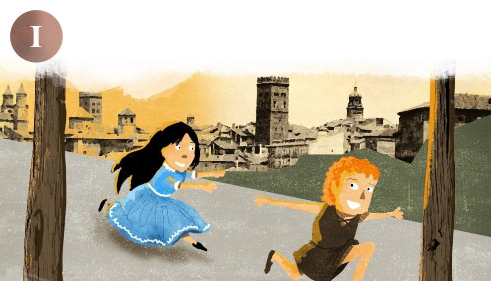 Los Amantes de Teruel, Isabel de Segura y Diego de Marcilla, de niños