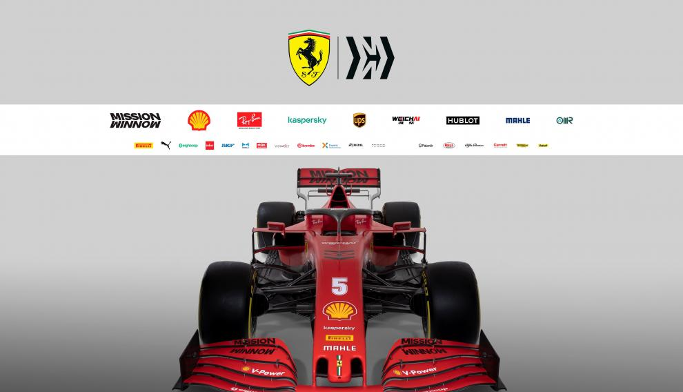 The new Ferrari Formula One race car is pictured in this handout photo released February 11, 2020. Ferrari Press Office/Handout via REUTERS ATTENTION EDITORS - THIS IMAGE HAS BEEN SUPPLIED BY A THIRD PARTY. THIS IMAGE HAS BEEN SUPPLIED BY A THIRD PARTY. NO RESALES. NO ARCHIVES [[[REUTERS VOCENTO]]]