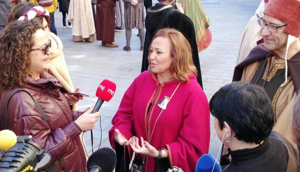 Mayte Pérez, en la fiesta de los Amantes de Teruel