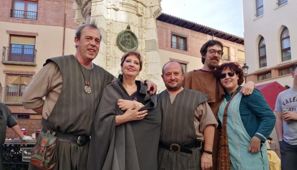 María, junto a su familia en Teruel