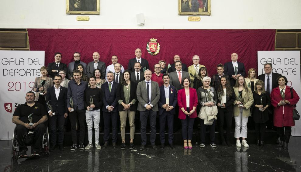 Premiados en la Gala del Deporte de Zaragoza 2019