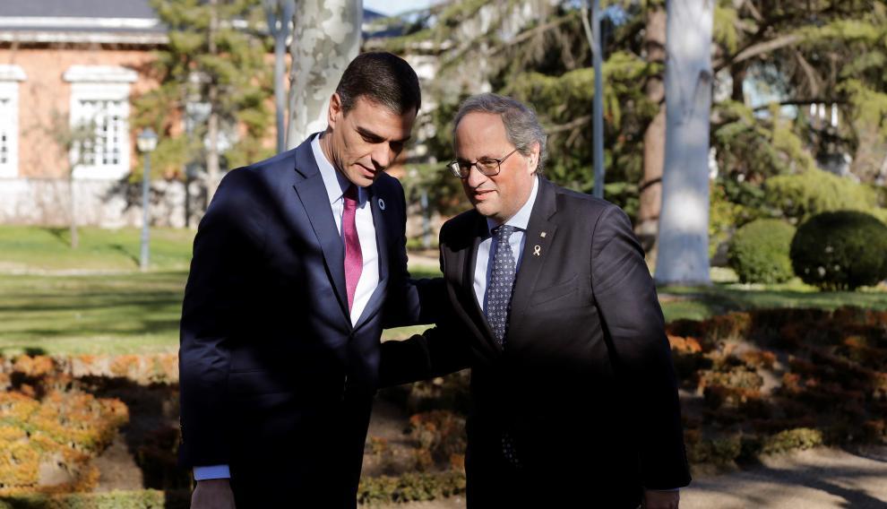 Sánchez y Torra en la primera reunión de la mesa de diálogo sobre Cataluña