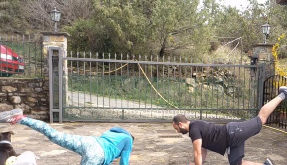 Ejercicios grabados de monitores de gimnasia de dos comarcas altoaragonesas