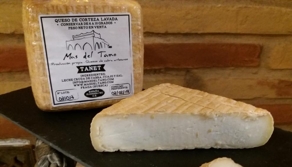 Quesos Tanet, que elabora la quesería Mas del Tano, en Fraga.