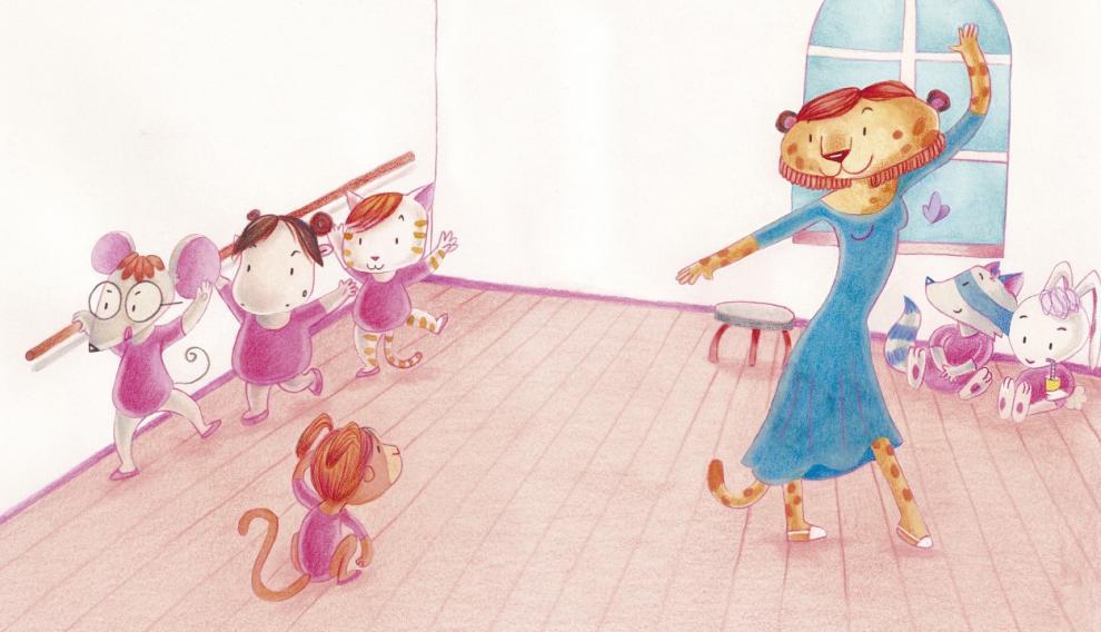 Uno de los dibujos de Blanca BK para 'Mia' (Los libros del gato negro).
