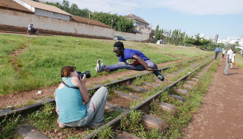 Ana Palacios trabajando en Uganda.