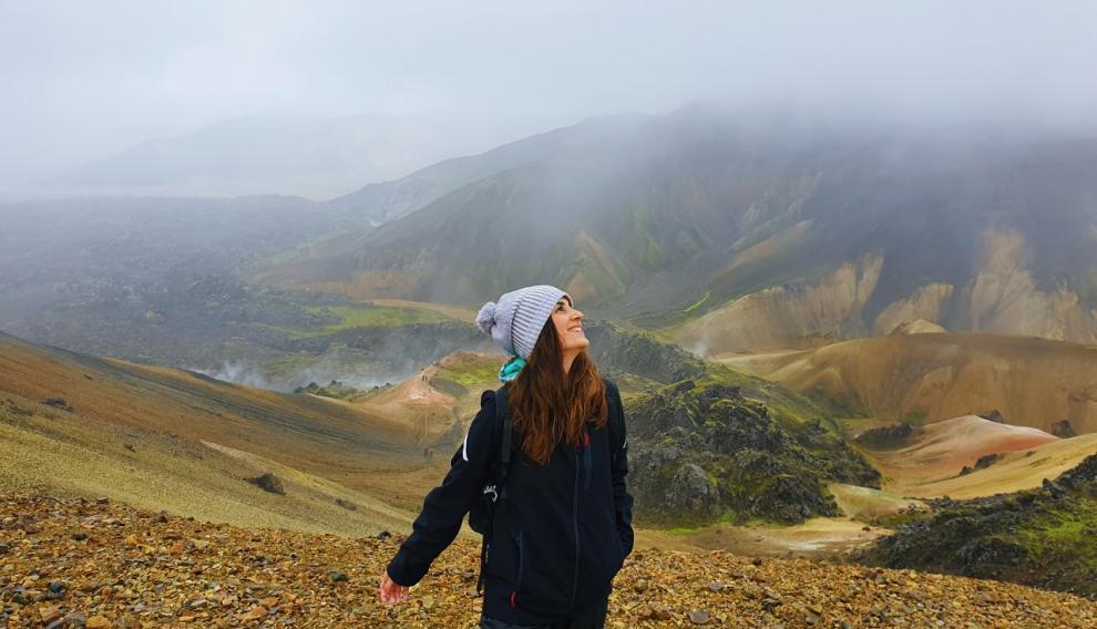 Laura Cebrián, en Islandia, en el verano de 2019.
