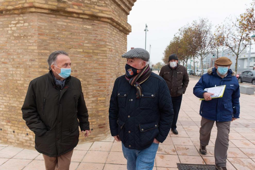 Vecinos de la Ortilla, barrio desaparecido de Zaragoza, recuerdan la riada de 1961.