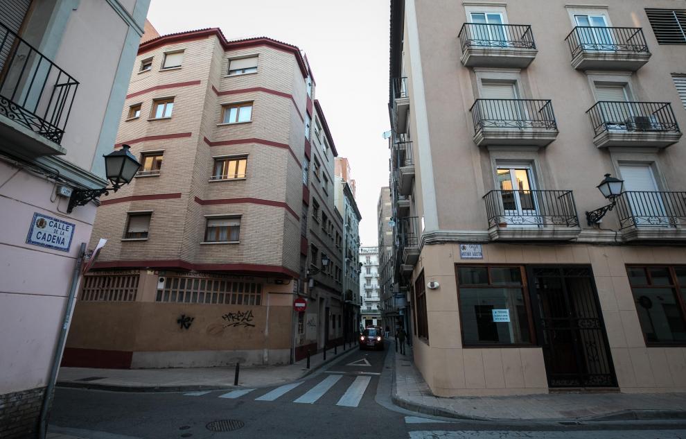 Casas donde vivió Goya: Esquina de Lacadena y Antonio Agustín.