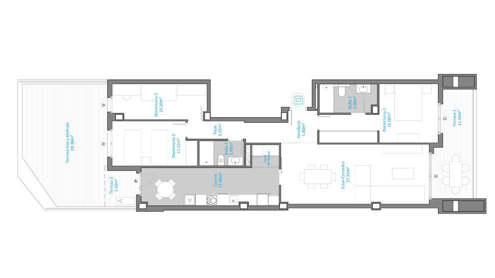 Plano 2 Aljafería Suites