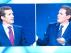 El líder del PP, Pablo Casado, y el líder de Cs, Albert Rivera, enfrentados durante el debate electoral.