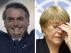 Combo de imágenes de Jair Bolsonaro y Michelle Bachelet