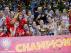 Las chicas de la selección femenina de baloncesto tras vencer a Francia en la final del Eurobasket 2017