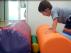 En el colegio Luis García Sainz, de Fuentes de Ebro, Lucas (en la imagen) y otros dos niños con discapacidad llevan cinco meses sin contar con la plaza de fisioterapeuta que tiene asignado el centro. Según ha informado la directora, está previsto que se incorpore un sustituto este miércoles.