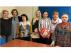 Trabajadoras y delegadas del servicio de Ayuda a domicilio en Zaragoza . Natividad Cires, de CC. OO. Aragón; María Tremps, de UGT Aragón, y Mª José Esteban, de CC. OO. Aragón. En medio, Angelica Mazo, secretaria de Servicios Sociales en la Fesp de UGT; Bernadette Anchent, de UGT: Yolanda Villar, de UGT, y Eli Placer, de UGT