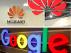 Logotipos de Huawei y Google