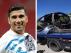 Combo de imágenes de José Antonio Reyes y de cómo quedó su coche tras el accidente mortal