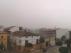 La plaza de España de Calamocha, bajo la lluvia.