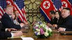 North Korea's leader Kim Jong Un and U.S. President Donald Trump attend the extended bilateral meeting in the Metropole hotel with U.S. Secretary of State Mike Pompeo, White House national security adviser John Bolton, acting White House Chief of Staff Mick Mulvaney, North Korean Foreign Minister Ri Yong Ho and Kim Yong Chol, Vice Chairman of the North Korean Workers' Party Committee, during the second North Korea-U.S. summit in Hanoi, Vietnam February 28, 2019. REUTERS/Leah Millis [[[REUTERS VOCENTO]]] NORTHKOREA-USA/