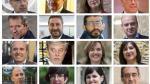 Los ocho principales cabezas de lista en las autonómicas (en las dos filas superiores), junto a los ocho principales aspirantes al Ayuntamiento de Zaragoza.(filas inferiores)