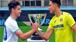 El capitán del Real Zaragoza DHJ con el del Villarreal.