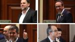 Oriol Junqueras, Josep Rull, Jordi Turull y Jordi Sànchez