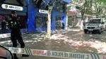 Agentes de las Unidades de Prevención y Reacción llegados desde Madrid custodiaron el acceso a las oficinas durante más de 6 horas.