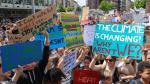 Protesta en contra de la crisis climática en Fráncfort (Alemania)