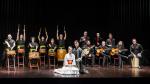 Los músicos e intérpretes que participan en el espectáculo de ópera flamenca 'Keicho', como cierre del Festival Flamenco de Zaragoza.
