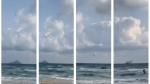 Imágenes extraídas de un vídeo en el que se puede ver como el avión se precipita en picado hacia el mar
