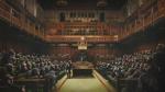 La obra de Banksy titulada 'Devolved Parliament'.