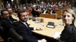 Javier Maroto, Teodoro García Egea, Pablo Casado y Cayetana Álvarez de Toledo, este jueves en el Congreso.