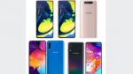 Comparativa del Samsung Galaxy A50, el A70 y el A80