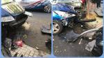 Imágenes del accidente compartidas en Twitter por la Policía Local