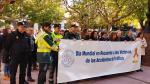 Minuto de silencio por las víctimas de accidentes de tráfico en Huesca.