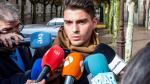 Raúl Calvo, uno de los exjugadores del Arandina, tras la primera jornada de juicio.