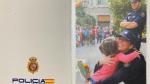 Postal navideña de la Policía Nacional.