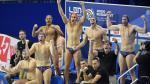 Los jugadores de la selección española celebran el triunfo ante Serbia