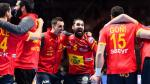 Los Hispanos celebran la victoria ante Eslovenia