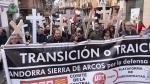 Manifestacion en Teruel de trabajadores de la central Termica de Andorra contra el cierre de la centarl. Foto Antonio Garcia [[[FOTOGRAFOS]]]